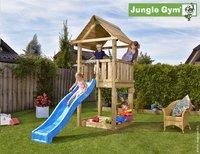 Jungle Gym tour de jeu en bois House avec toboggan bleu
