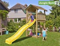 Jungle Gym tour de jeu en bois Cottage avec toboggan jaune