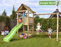 Jungle Gym portique en bois House avec toboggan vert