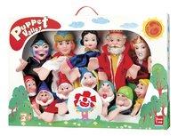 Set van 12 poppenkastpoppen Sneeuwwitje en de 7 dwergen
