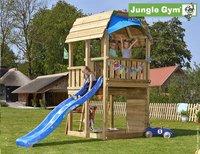 Jungle Gym tour de jeu en bois Barn avec toboggan bleu