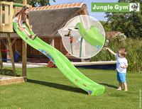 Jungle Gym houten schommel Barn met groene glijbaan-Afbeelding 2