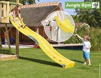 Jungle Gym portique en bois Barn avec toboggan jaune-Image 2