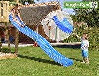 Jungle Gym portique en bois Cottage avec toboggan bleu-Image 2