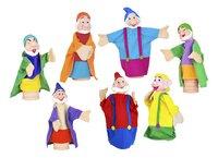 Set van 12 poppenkastpoppen Sneeuwwitje en de 7 dwergen-Artikeldetail