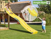 Jungle Gym tour de jeu en bois Cottage avec toboggan jaune-Image 2