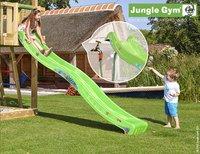 Jungle Gym houten speeltoren Cubby met groene glijbaan-Afbeelding 2