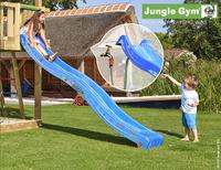 Jungle Gym tour de jeu en bois Barn avec toboggan bleu-Image 2