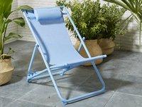 Chaise de plage bleu-Image 1
