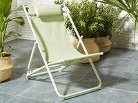 Chaise de plage vert-Image 1