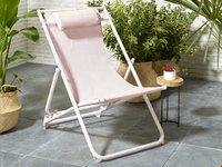 Chaise de plage rose-Image 1