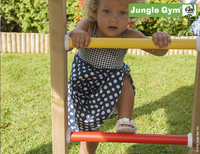 Jungle Gym houten schommel Cottage met blauwe glijbaan-Afbeelding 3