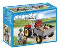 Playmobil Country 6131 Tractor met laadbak-Vooraanzicht
