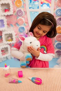 Interactieve knuffel Little Live Pets Rainglow Unicorn Vet Set-Afbeelding 5