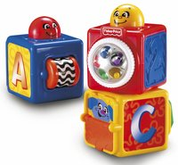 Fisher-Price Stapelblokken Stacking Action Blocks - 3 stuks-Vooraanzicht