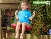 Jungle Gym houten schommel Cottage met blauwe glijbaan-Afbeelding 4