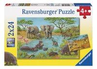 Ravensburger puzzel 2-in-1 In de wildernis