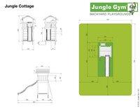 Jungle Gym portique en bois Cottage avec toboggan bleu-Détail de l'article