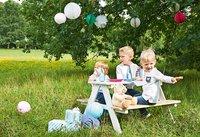 Pinolino table de pique-nique pour enfants Nicki blanc-Image 2