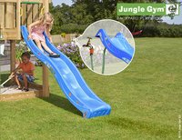 Jungle Gym tour de jeu en bois House avec toboggan bleu-Image 2