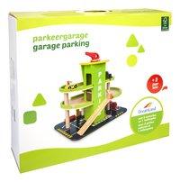 DreamLand garage parking en bois avec 3 petites voitures et 1 hélicoptère-Côté gauche