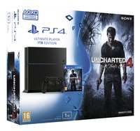 PS4 console 1 To noir + Uncharted 4: A Thief's End
