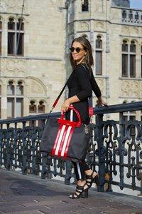 Olivia Lauren businesstrolley RNB zwart/rood/wit-Afbeelding 1