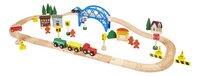 DreamLand Train en bois 60 pièces-Côté droit