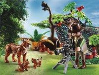 Playmobil Wild Life 5561 Explorateur et famille de lynx-Image 1
