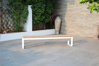 Table de jardin Selena blanc L 220 x Lg 100 cm-Image 7