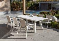 Ocean table de jardin à rallonge Lanna blanc L 200 x Lg 110 cm-Image 1