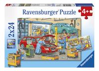 Ravensburger puzzel 2-in-1 Garagebedrijf en tankstation