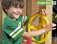 Jungle Gym houten speeltoren Cubby met blauwe glijbaan-Afbeelding 3