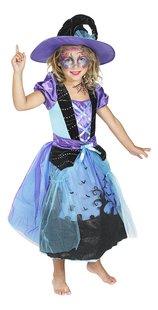 Verkleedpak heks paars en blauw