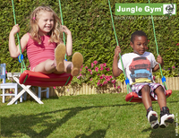 Jungle Gym portique en bois House avec toboggan vert-Image 4