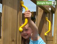 Jungle Gym tour de jeu en bois House avec toboggan jaune-Image 4