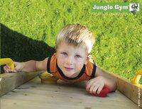 Jungle Gym houten speeltoren Cubby met groene glijbaan-Afbeelding 4