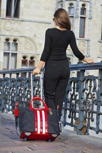 Olivia Lauren businesstrolley RNB zwart/rood/wit-Afbeelding 2