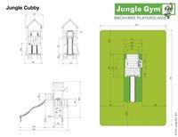 Jungle Gym houten schommel Cubby met gele glijbaan-Artikeldetail
