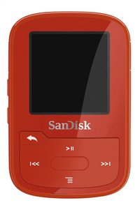 SanDisk mp3-speler Clip Sport Plus 16 GB rood-Vooraanzicht