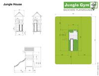 Jungle Gym houten speeltoren House met groene glijbaan-Artikeldetail