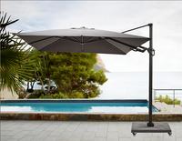 Ocean hangparasol Bahia aluminium 3 x 3 m Charcoal-Afbeelding 1