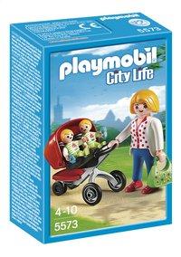 Playmobil City Life 5573 Tweeling kinderwagen-Vooraanzicht