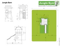 Jungle Gym Houten speeltoren Barn met groene glijbaan-Artikeldetail