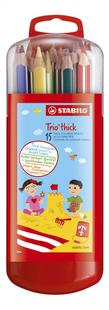STABILO kleurpotlood Trio box - 15 stuks-Vooraanzicht