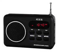 iCES radio IMPR-112 noir