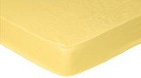 Sleepnight drap-housse jaune en jersey de coton 90/100 x 200 cm-Avant