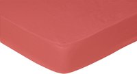 Sleepnight drap-housse rouge en coton 140 x 200 cm
