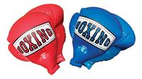 Opblaasbare bokshandschoenen Mega Boxing Gloves rood/blauw-Vooraanzicht