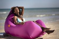 Sunvibes opblaasbare loungezetel Travel Lounger fuchsia-Afbeelding 2